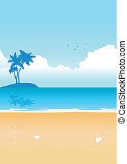 bleu, plage