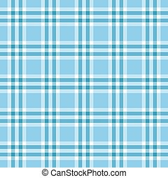 bleu, plaid, seamless, motifs, carrée, azur