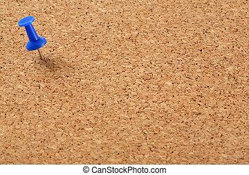 bleu, planche, épingle, bouchon