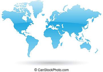 bleu, planisphère