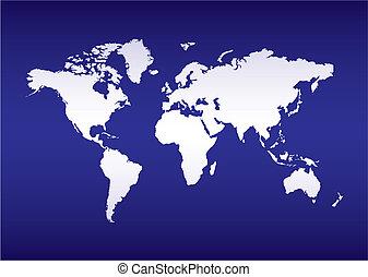 bleu, planisphère, océan