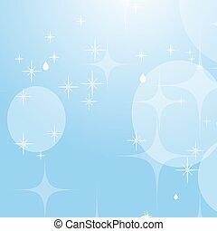 bleu, plat, étoiles, sky., simple, lumière, résumé, bokeh., beau, vecteur, fond, illustration.