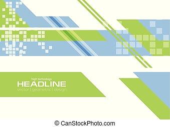 bleu, plat, arrière-plan vert, technologie, minimal
