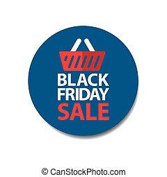 bleu, plat, coût, vendredi, marque vente, noir, autocollant