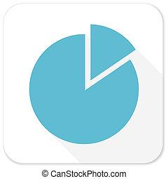 bleu, plat, diagramme, icône