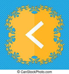 bleu, plat, flèche, résumé, texte, gauche, manière, conception, fond,  floral, endroit, ton, dehors