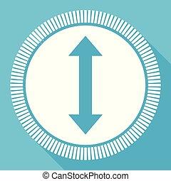 bleu, plat, smartphone, carrée, toile, editable, eps, vecteur, bouton, application, informatique, icône flèche, signe, 10
