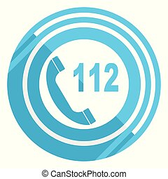 bleu, plat, urgence, toile, éditer, illustration, applications, vecteur, conception, mobile, facile, icône, appeler, webdesign