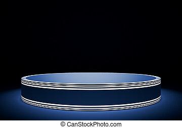 bleu, podium