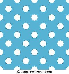 bleu, point, polka, seamless, fond