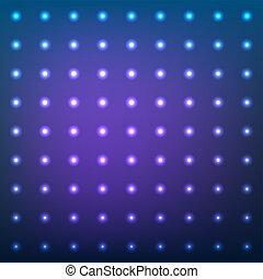 bleu, pointillé, flamme, résumé, light., lentille, vecteur, fond