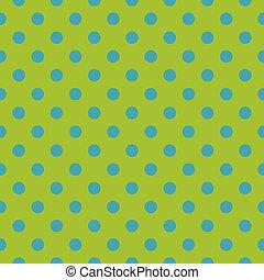 bleu, points, modèle, vecteur, vert, carreau