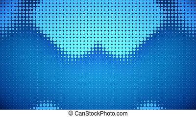 bleu, points, vidéo