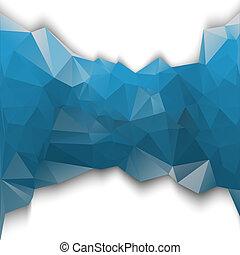 bleu, poligonal