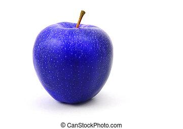 bleu, pomme