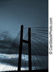 bleu, pont