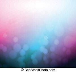 bleu, pourpre, lumière, résumé, arrière-plan., bokeh