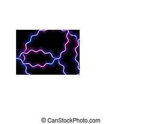 bleu, pourpre, néon, lignes, incandescent, ondulé, fond