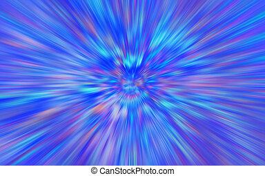 bleu, pourpre, résumé, barbouillage, néon, fond, radial