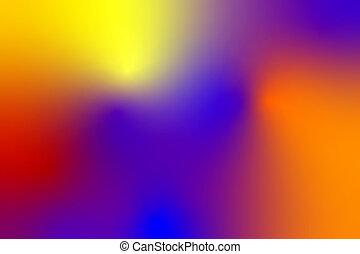bleu, pourpre, résumé, fond jaune, orange, rouges