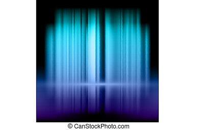 bleu, pourpre, résumé, fond, lumières
