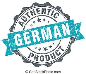 bleu, produit, grunge, allemand, style, isolé, retro, cachet