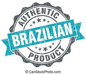 bleu, produit, grunge, brésilien, isolé, style, retro, cachet