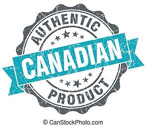 bleu, produit, grunge, canadien, isolé, style, retro, cachet