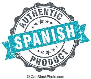 bleu, produit, grunge, espagnol, isolé, style, retro, cachet