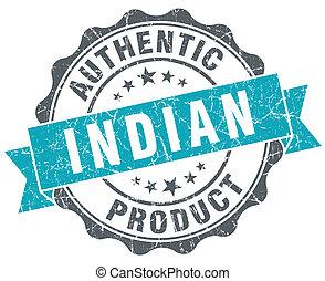 bleu, produit, grunge, style, isolé, indien, retro, cachet