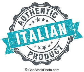 bleu, produit, grunge, style, isolé, retro, cachet, italien
