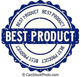 bleu, produit, mot, timbre, caoutchouc, fond, cachet, grunge, blanc, rond, mieux