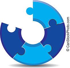 bleu, puzzle