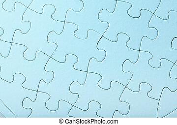 bleu, puzzle, puzzle