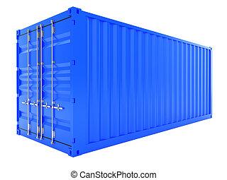 bleu, récipient cargaison