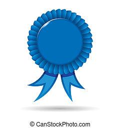 bleu, récompense, ruban