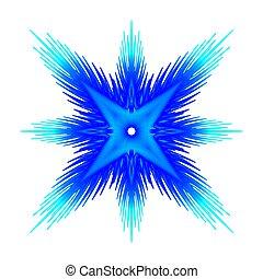 bleu, résumé, étoile