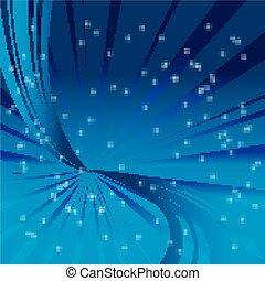 bleu, résumé, étoile, fond