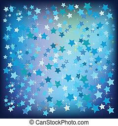 bleu, résumé, étoiles, noël, fond