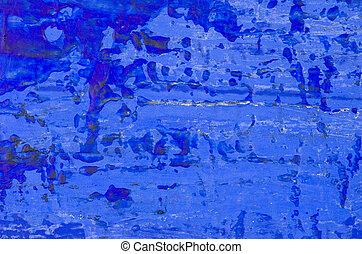 bleu, résumé, acrylique, fond