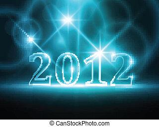 bleu, résumé, année, fond, 2012