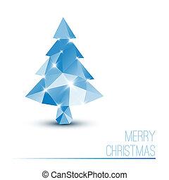 bleu, résumé, arbre, vecteur, noël carte
