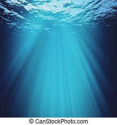 bleu, résumé, arrière-plans, profond, conception, mer, marin, ton