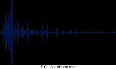 bleu, résumé, audio, fond, vague