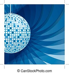 bleu, résumé, balle, fond, disco