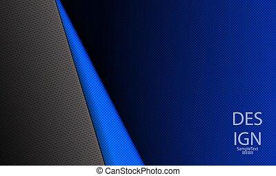 bleu, résumé, cannelé, sombre, conception, coin