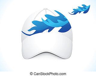 bleu, résumé, casquette, gabarit