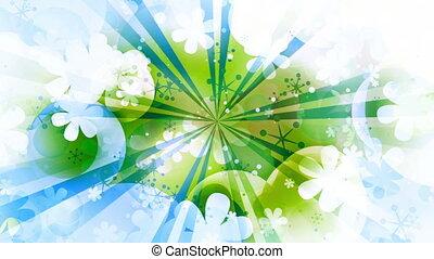 bleu, résumé, cg, faire boucle, vert, retro, fond, nouveau, ...