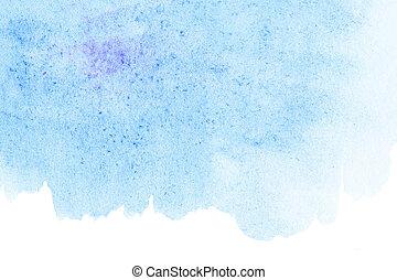 bleu, résumé, ciel, aquarelle, conception, fond, ton
