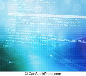 bleu, résumé, code, fond